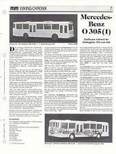 WIKING CHRONIK MERCEDES-BENZ STADT-BUS O 305  Teil 1, von 1993