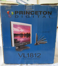 "Princeton Digital VL1812 18.1"" LCD Monitor Taken From A Working Windows XP PC"