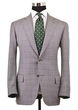 RECENT Pal Zileri Gray Glen Plaid Purple Check Sport Coat Jacket Blazer 50 40 R