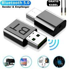 2-in-1 Bluetooth Adapter Transmitter Empfänger Musik TV PC Audio Sender 3.5mm