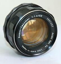 8 ELEMENTS ASAHI PENTAX SUPER TAKUMAR 50/1.4 50mm f1.4 LENS M42 JAPAN TIGHT 207
