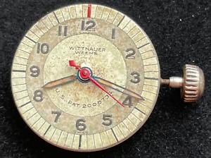 Vintage Wittnauer Weems Mens Pilot Watch Movement Good Balance Parts 15j Swiss