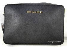0d0651f98f72 Michael Kors Jet Set Large East West Crossbody Black Saffiano Leather Bag
