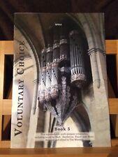 Voluntary choice recueil pièces pour orgue volume 5 Partition éditions Spartan