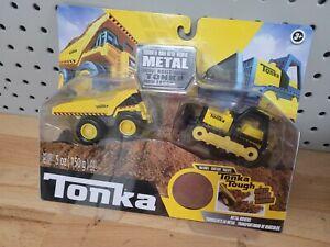 Tonka - Metal Movers Combo Pack - Mighty Dump Truck & Bulldozer  NEW SEALED NEW