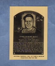 Johnny Mize, Cardinals-Giants-Yankees Hall of Fame Metallic Plaque-card(1/1,000)