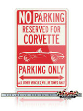 Chevrolet Corvette C1 Reserved Parking Only 12x18 Aluminum Sign