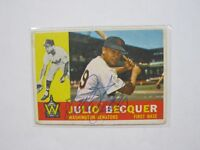 Julio Becquer Autographed Signed Baseball Card