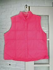 LANDS' END WOMEN'S CORAL PINK DOWN QUILTED PUFFER VEST XL 18-20