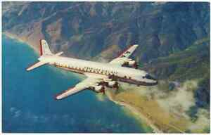 American Airlines Vintage DC-7 DC7 Propeller Airplane AA 1950's USA Postcard