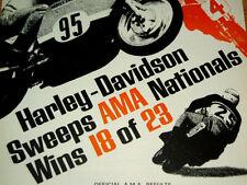 1968-1969 HARLEY-DAVIDSON KRTT AD -KR/XR/750/KR750TT/XR750/poster/print/sign/VTG