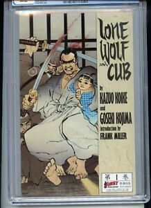 Lone Wolf and Cub #1 CGC 9.8 White Intro by Frank Miller