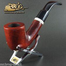 "OUTSTANDING HAND MADE Mr.Brog original smoking pipe nr.106 teak smooth ""MAGNUM"""