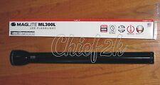 3RD GEN MAGLITE 6-D LED Flashlight Black Maglight 694 LUMENS ML300L