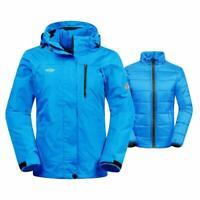 NEW Wantdo Women's Jacket 3-in-1 Small Winter Coat Snowboard Ski Blue Waterproof