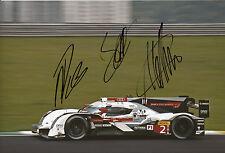 Lotterer, Treluyer, Fässler Audi Joest Hand Signed Photo 12x8 Le Mans 4.