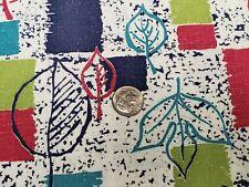 BEST Vintage Feedsack Quilt Fabric 40s Novelty Leaves Geometric Flour Full Sack