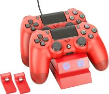 Venom PS4 Twin Charge Docking Station for DualShock 4 Controllers - Red - VS2739