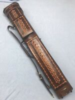 Instroke Genuine Brown Leather Tooled 3x5 W/ New Airweight Technology Interior