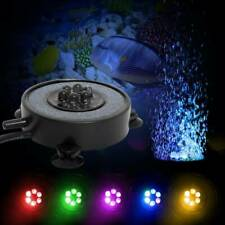 Aquarium Bubble LED Light Air Stone Curtain Lamp Fish Tank Lights Disk