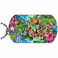 Butterfly Dog Tag Necklace Chain