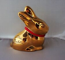 Rosenthal Lindt Gold Bunny Rabbit signed by Alec Baldwin from Charity auction