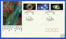 AUSTRALIA, INTERNATIONAL SPACE YEAR 1992, FDC, YEAR 1992