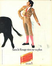 Publicité Advertising 097  1983  whisky Johnnie Walker  red label