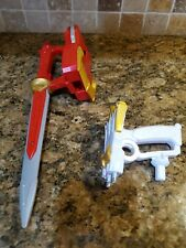 "(2012) POWER RANGERS MEGAFORCE DRAGON 12"" RED SWORD W/ATTACH. & ENERGIZER  BATS."