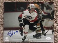 Orest Kindrachuk Autograph 8x10 Signed Photo w/ JSA COA Philadelphia Flyers