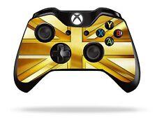 GOLD Union Jack XBOX ONE Controller Remoto / Gamepad Pelle / coperchio / VINILE xb1r14