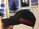NWT 100% Authentic Gucci Men's BlackBrown Hats Baseball Cap Size-M_