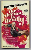 The Dream is Deadly by Carter Brown [1960 Signet pb -1st, Barye Phillips, Skull]