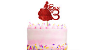 Personalised disney princess cake topper Decoration any name age colour Birthday