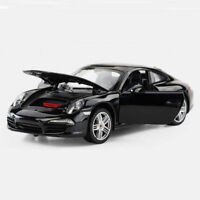 1:24 Scale Porsche 911 Carrera S Coupe Model Car Diecast Black Collection Gift