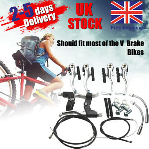 Complete Bicycle V-brake Caliper inner & outer Cable Lever Set MTB NEW Bike Tool