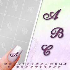 Gabarits Aérographe+NAIL ART BST01 Alphabets Courrier Scénario 100 Pièces