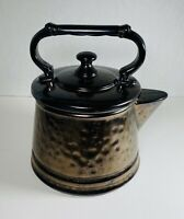 Vintage McCoy USA Pottery Cookie🍪 Jar  Tea Pot Kettle Centerpiece 9""