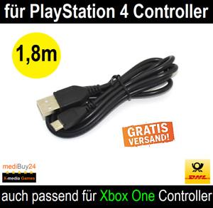 Playstation 4 USB Ladekabel für PS4 Wireless Controller oder XBOX ONE 1,8m *NEU*