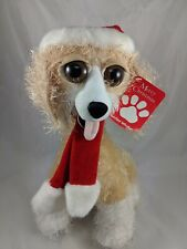 """Twisted Whiskers Cat Plush 14"""" Christmas Hat Scarf American Greetings Stuffed"""