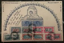 1938 Pretoria South Africa First Day Souvenir Cover FDC Voortrekker Monument B