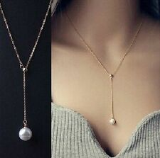Allure Tags - New One Direction Imitation Hanging Pearl | Gold Chain Pendant |