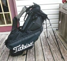 Titleist Players 5 Stand or Carry Golf Bag With Rain Cover Very Nice