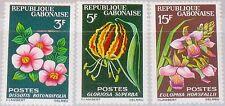 GABON GABUN 1964 210-12 176-78 Flowers Blumen Flora Pflanzen Plants MNH