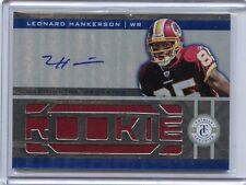 2012 TOTALLY CERTIFIED #223 LEONARD HANKERSON ROOKIE RC JERSEY AUTOGRAPH 25/499