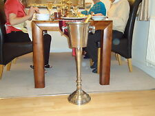 More details for floor standing champagne ice bucket vintage silver stand wine cooler bar drinks