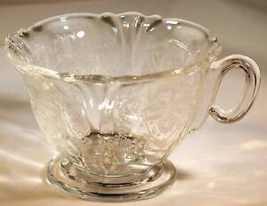 HEISEY ORCHID CRYSTAL QUEEN ANNE FTD COFFEE or TEA CUP!