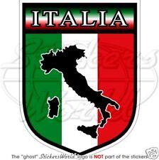"ITALIE Italia Italien Bouclier 100mm ( 4 "" ) Autocollant Stickers"