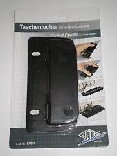 WEDO Taschenlocher 8cm Kunststoff schwarz 2-fach Lochung abheftbar NEU & OVP