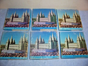 """VINTAGE MORMON YOUTH SYMPHONY AND CHORUS 5"""" REEL TO REEL TAPES & CASES, LOT OF 6"""
